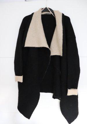 Schwarz-beiger Cardigan