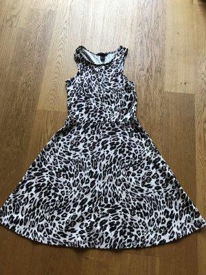Schwarz Beiges Leo Kleid von H&M Größe S