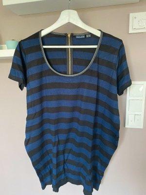 Schwarz/blau gestreiftes Shirt von Esmara, Gr. L (44/46)