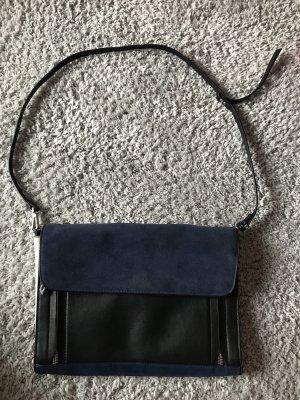 Schwarz-blaue Tasche von Zara
