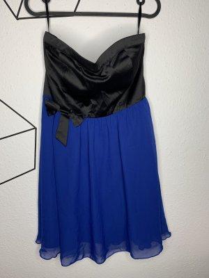 Ann Christine Vestido bustier negro-azul
