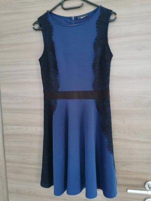 Schwarz-blaues Kleid, Gr S