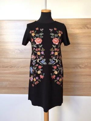 Schwarz Blumen Shirt Kleid, Sommerkleid von Zara, Gr. S (NEUw.)