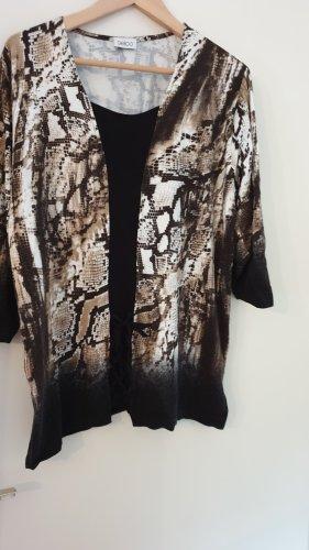 Schwarz-braun-weißes Shirt von Gelco