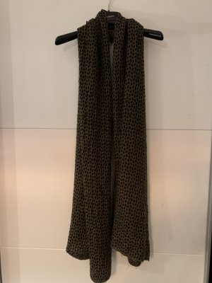 Made in Italy Knitted Scarf black-black brown polyacrylic