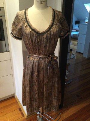 Schwarz Braunes Kleid aus Seide