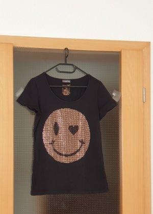 schwarz-bronze T-Shirt schwarzes T-Shirt T-Shirt 38 Street One