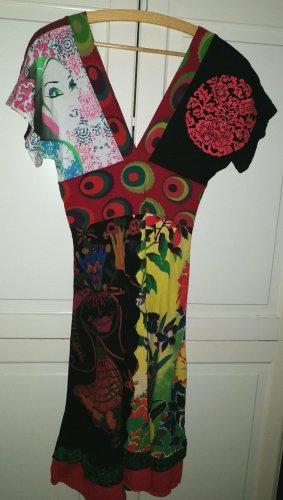 Desigual Robe Hippie multicolore coton