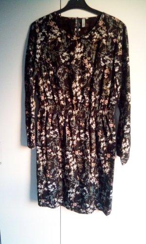 Schwarz buntes Kleid