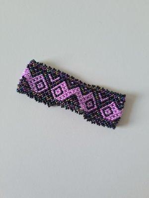 Bracelet en perles noir-rose