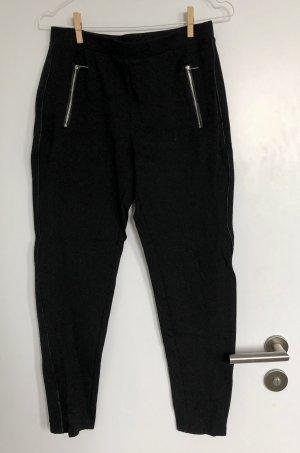 Schwarz Einfarbig Lässig Leggings