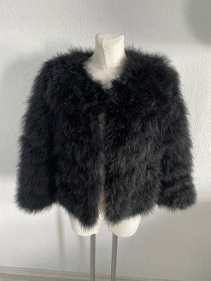 ChicMe Futrzana kurtka czarny