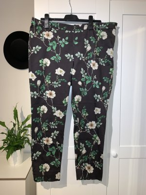 Schwarz geblümte Hose von H&M in Größe 50