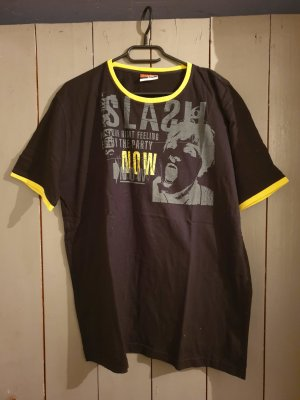 Authentic Style T-Shirt black-yellow