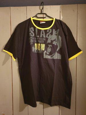 schwarz-gelbes T-Shirt von Authentic Style