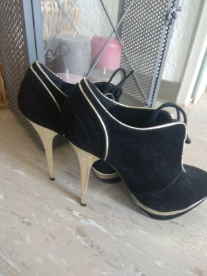 Schwarz Gold High Heels
