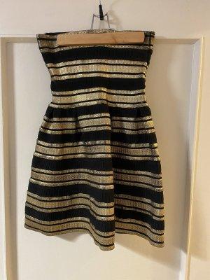 Schwarz Gold Kleid