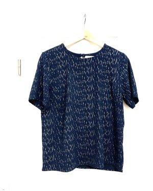 Schwarz - Gold T-Shirt/ Top/ Oberteil kurzarm v Pieces Gr. 38/M