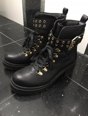 CCC Low boot noir-doré