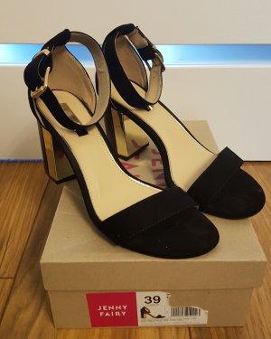 Schwarz, goldene High-heels
