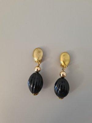 Vintage Clip d'oreille doré-noir