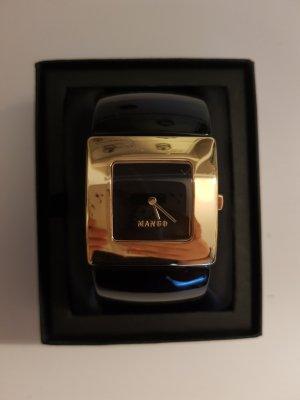 Schwarz goldene Uhr von Mango, Neupreis 149,00€, Etikett liegt bei