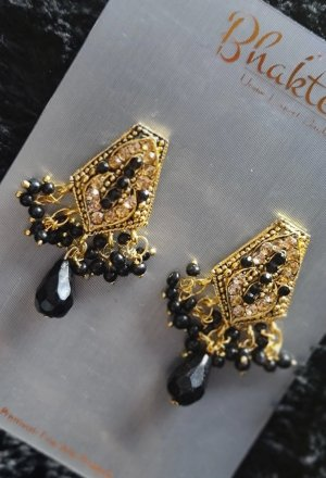 Statement Earrings black-gold-colored