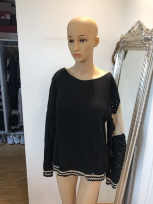 Malvin Wollen trui zwart-goud