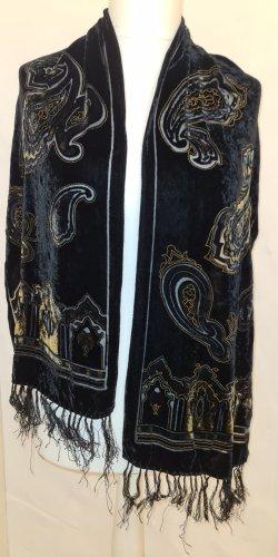 schwarz goldener Schal