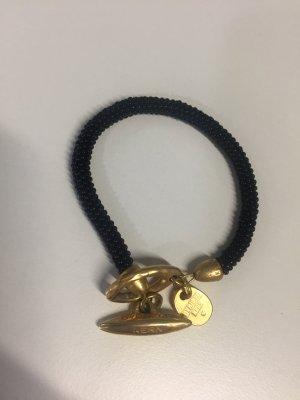 Schwarz-goldenes Dyrberg/Kern Armband