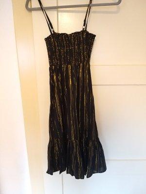 schwarz goldenes Trägerkleid von H&M