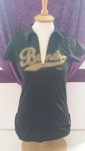 schwarz goldens Shirt von Bench, Gr. 38 / M