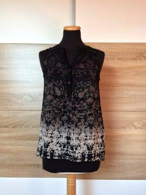 Schwarz grau Blusentop, Shirt von Only, Gr. 36 (NEU)