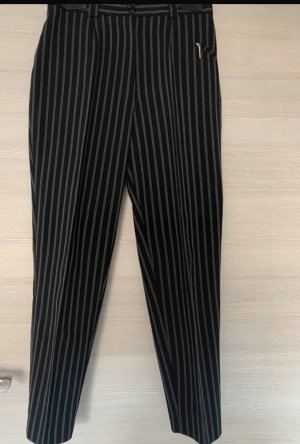 Schwarz Grau gestreifte Hose