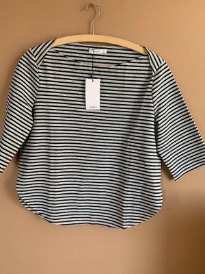 Schwarz-grau gestreiftes Shirt  *NEU* von Mango Gr. L 40/42