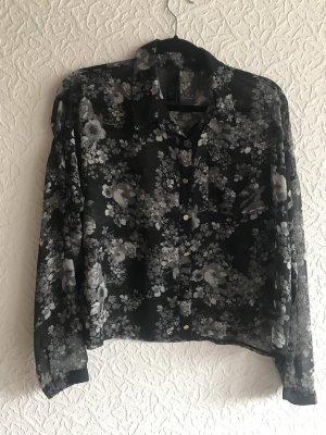Schwarz graue Bluse