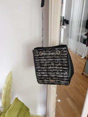 Schwarz-graue Bucket Bag von Karl Lagerfeld, Tasche mit Kordelzug