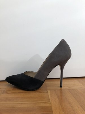 Buffalo Pointed Toe Pumps black-silver-colored leather