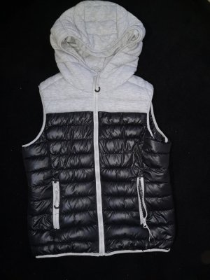 FB Sister Capuchon vest zwart-lichtgrijs