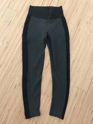 Schwarz graue Zara Leggings
