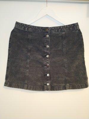 schwarz/grauer Jeansrock