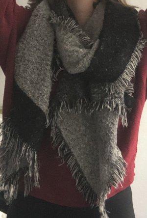 H&M Wollen sjaal zwart-grijs