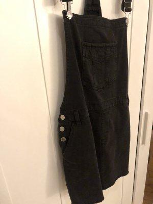 Schwarz-graues Demin Jeanskleid