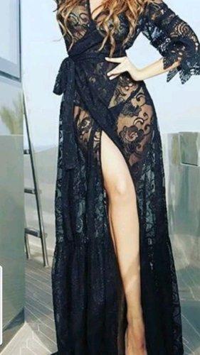 Schwarz kleid aus Spitze neu