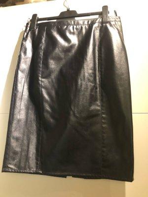 Armani Jeans Jupe crayon noir faux cuir