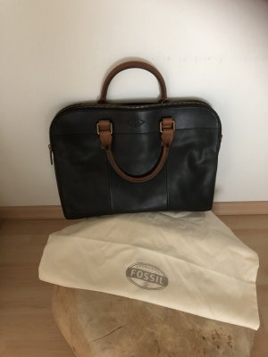 Fossil Laptop bag black-brown leather
