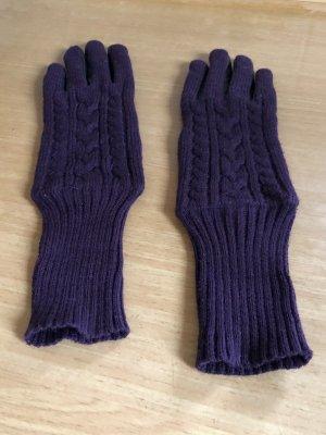 Rękawiczki czarny-fiolet