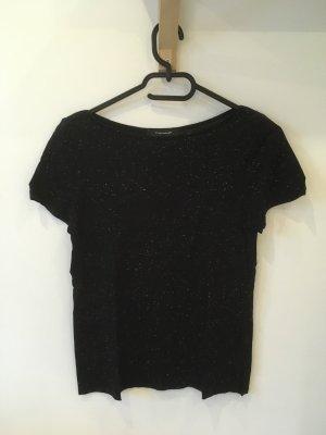Schwarz meliertes Shirt