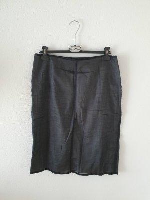 Camera Falda midi blanco-negro
