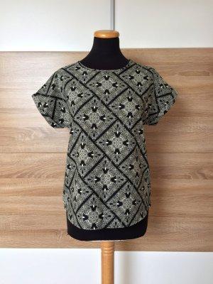 Schwarz nude Muster Bluse, Shirt von Atmosphere Primark, Gr. 36 (NEU)